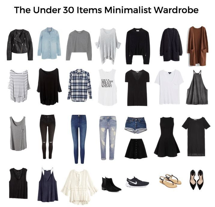 Minimalistic female clothes style.