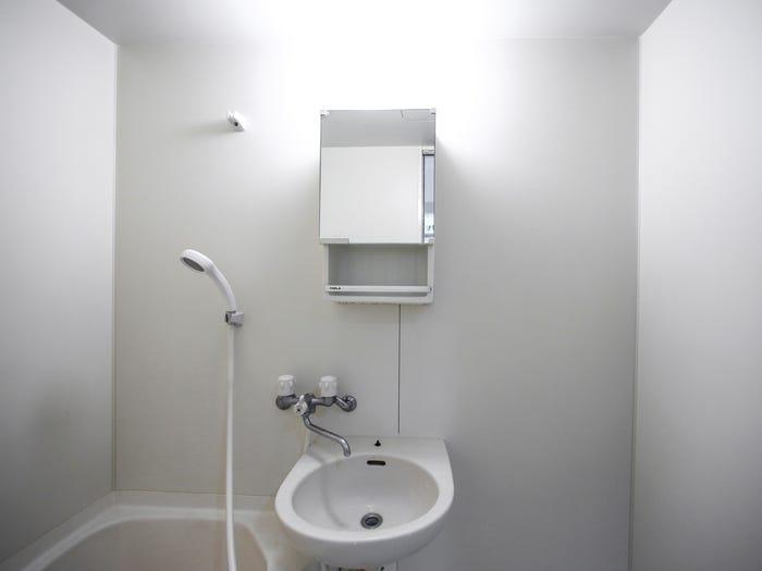 Minimalistic bathroom.