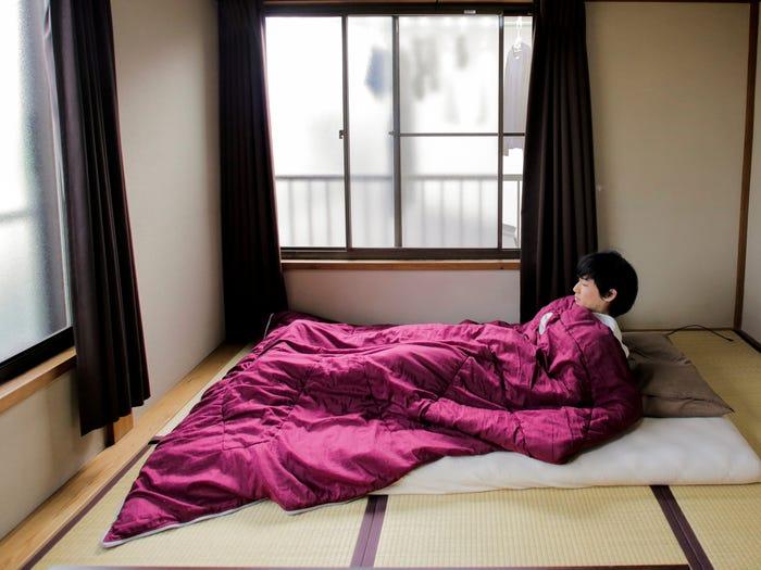 Katsuya Toyoda in his bedroom.
