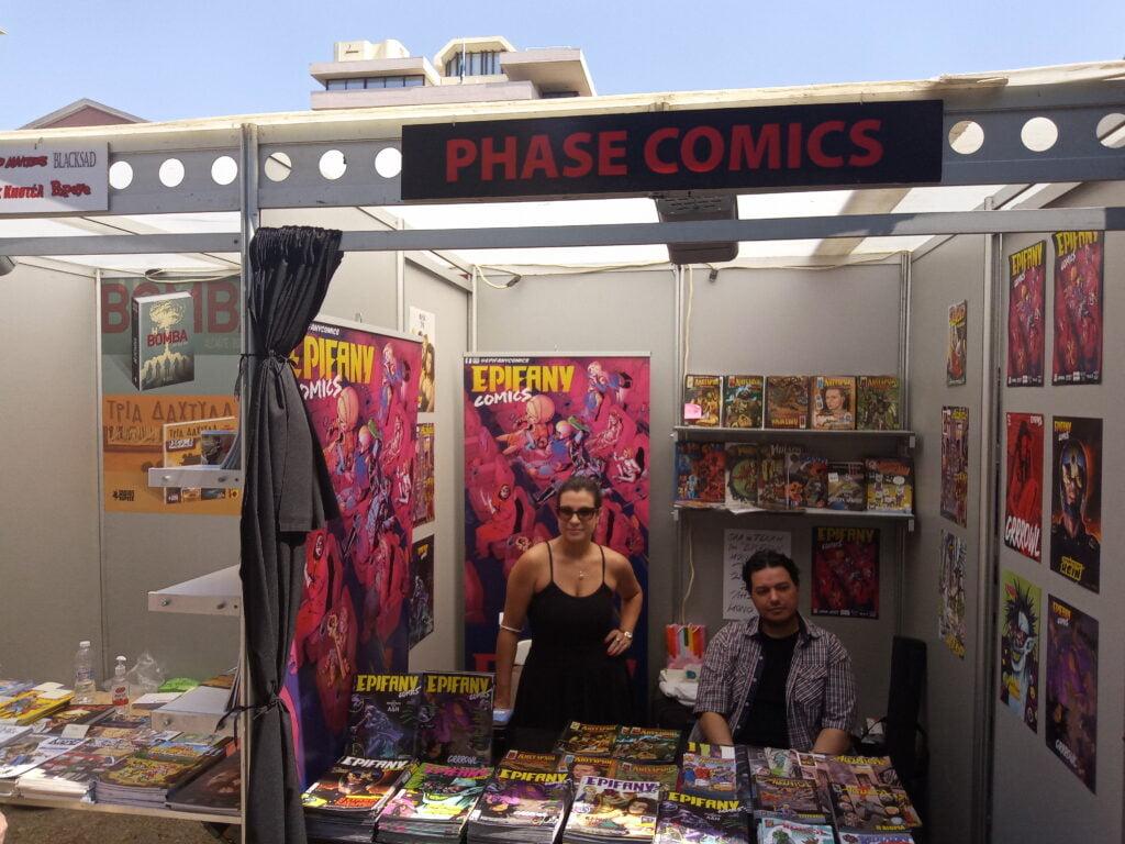 Epiphany comics stand.